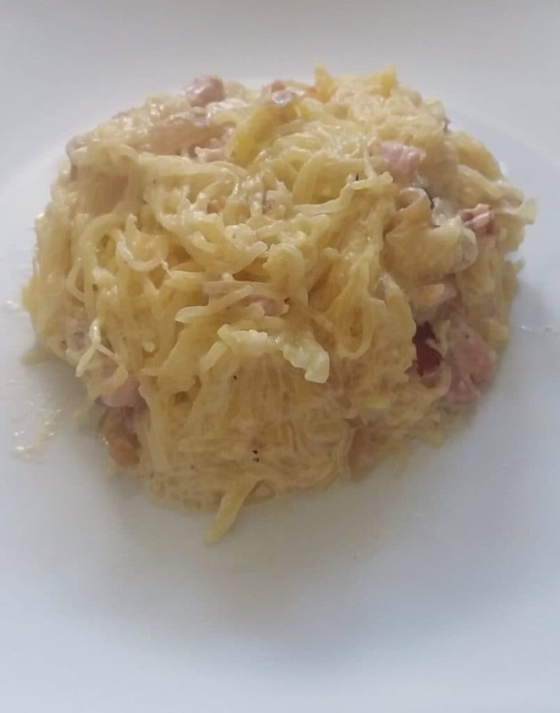 courge spaghetti carbonara recette