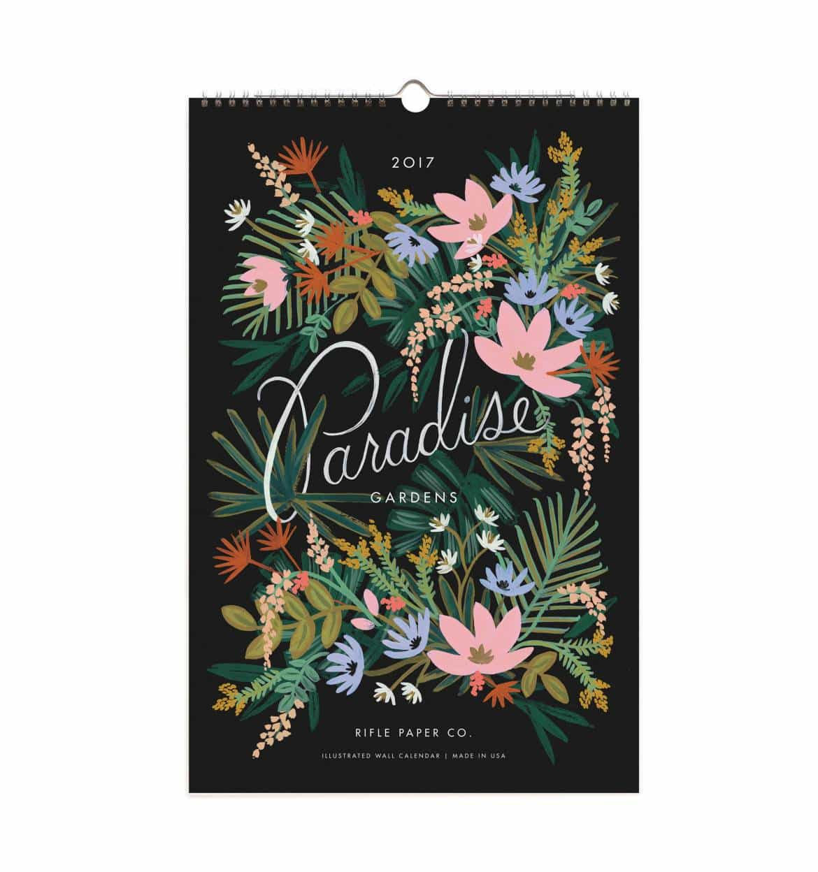 calendrier mural rifle paper