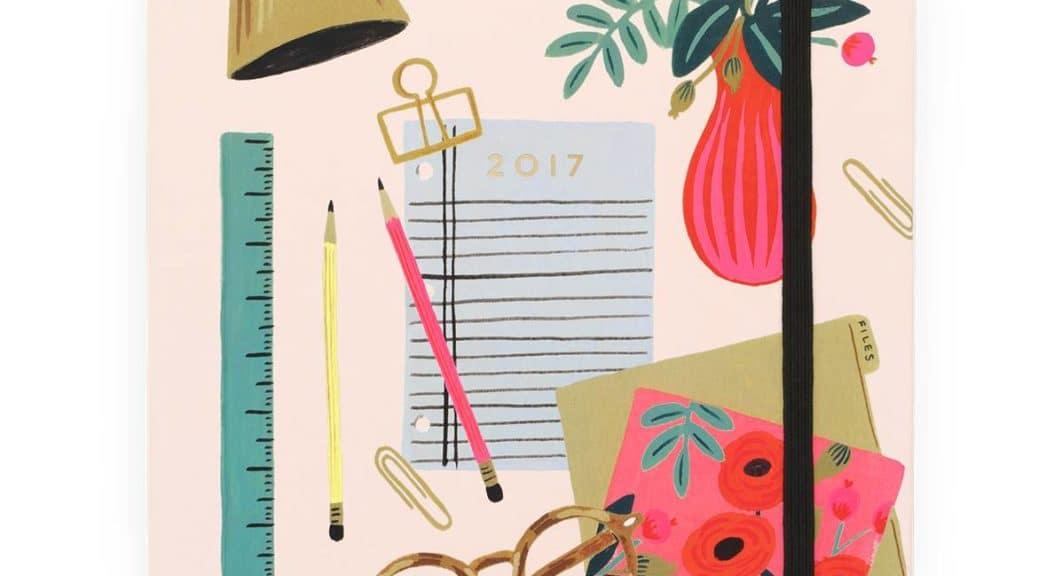 agenda rifle paper desktop 2017
