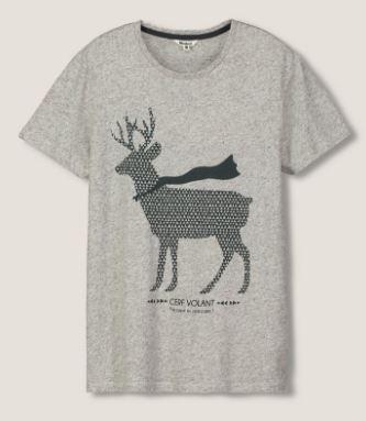 tee shirt cerf noel idée cadeau homme