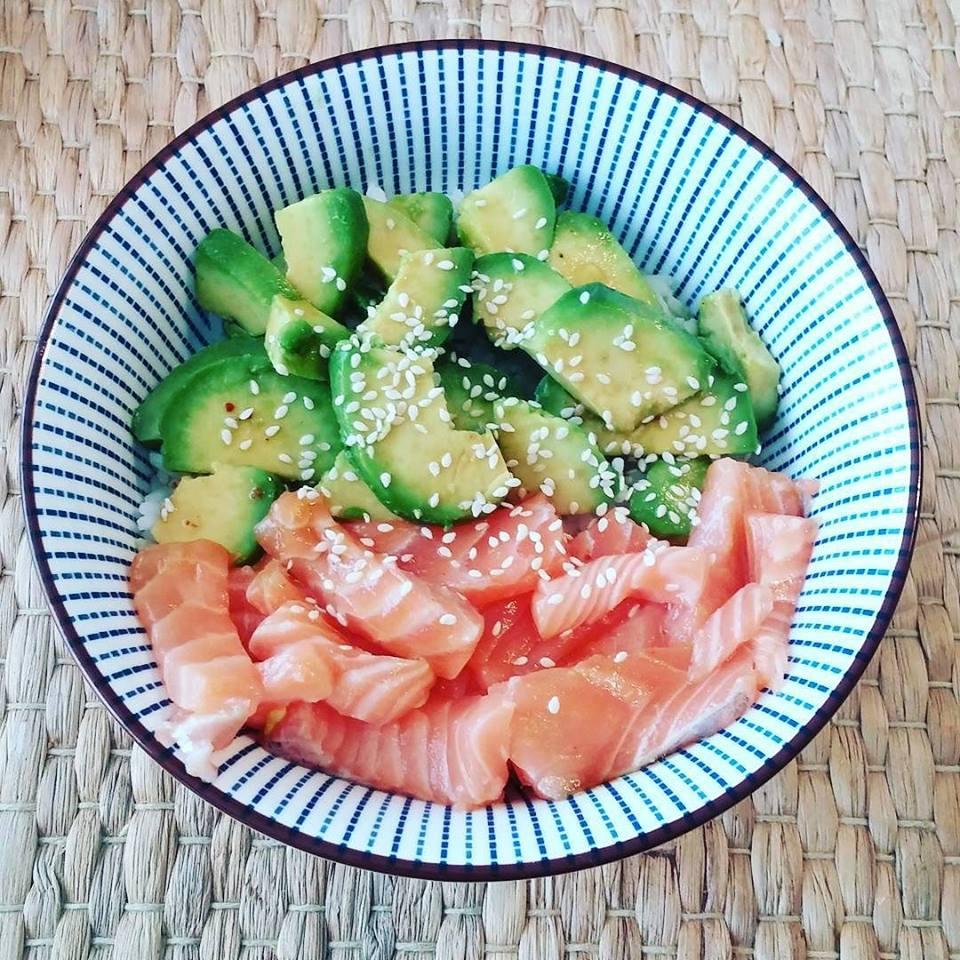 poke bowl recette saumon frais printemps
