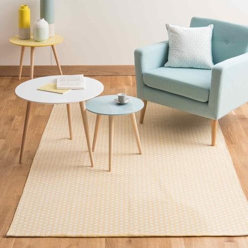 tapis jaune style nordique salon