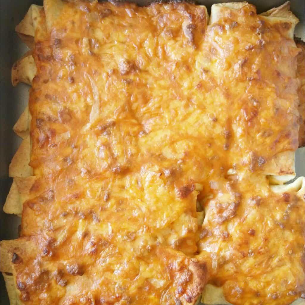 enchiladas boeuf cheddar