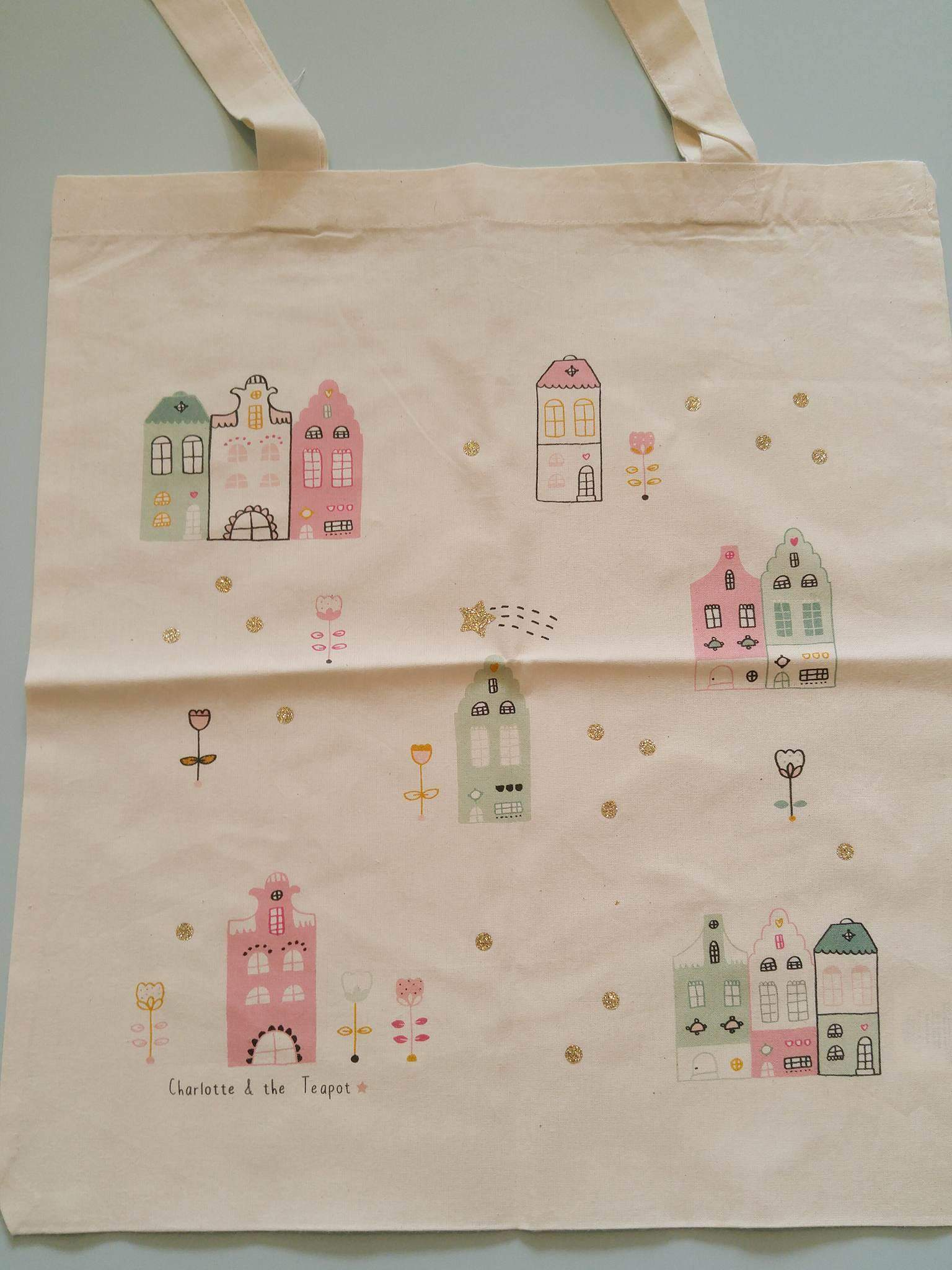 tote bag nordique coton bio etsy a little market charlotte and the teapot