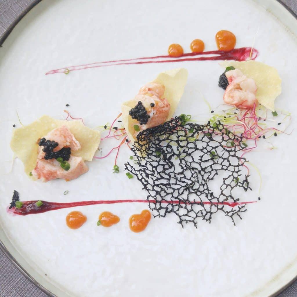 au pois gourmand menu homard