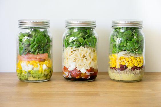 jar salade repas midi bocal
