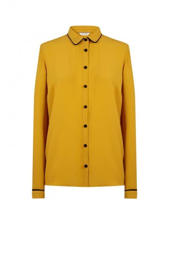chemise jaune moutarde naf naf